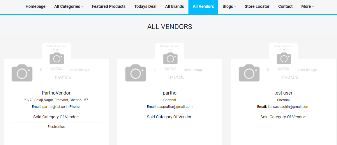 Readymade e-commerce website build-in 2 days  - ability to list out all vendors - lia infraservices