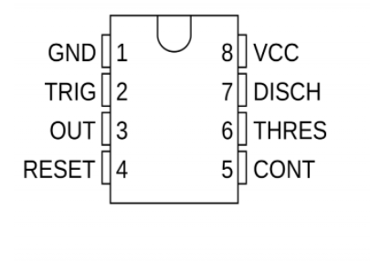 555 Timer Pin Positions
