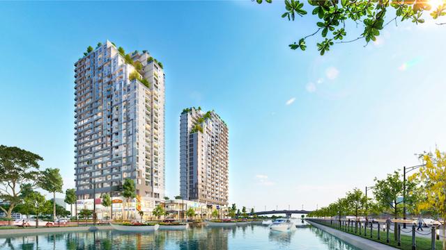Mặt bằng tổng thể của Chung cư D Aqua gồm 650 căn hộ