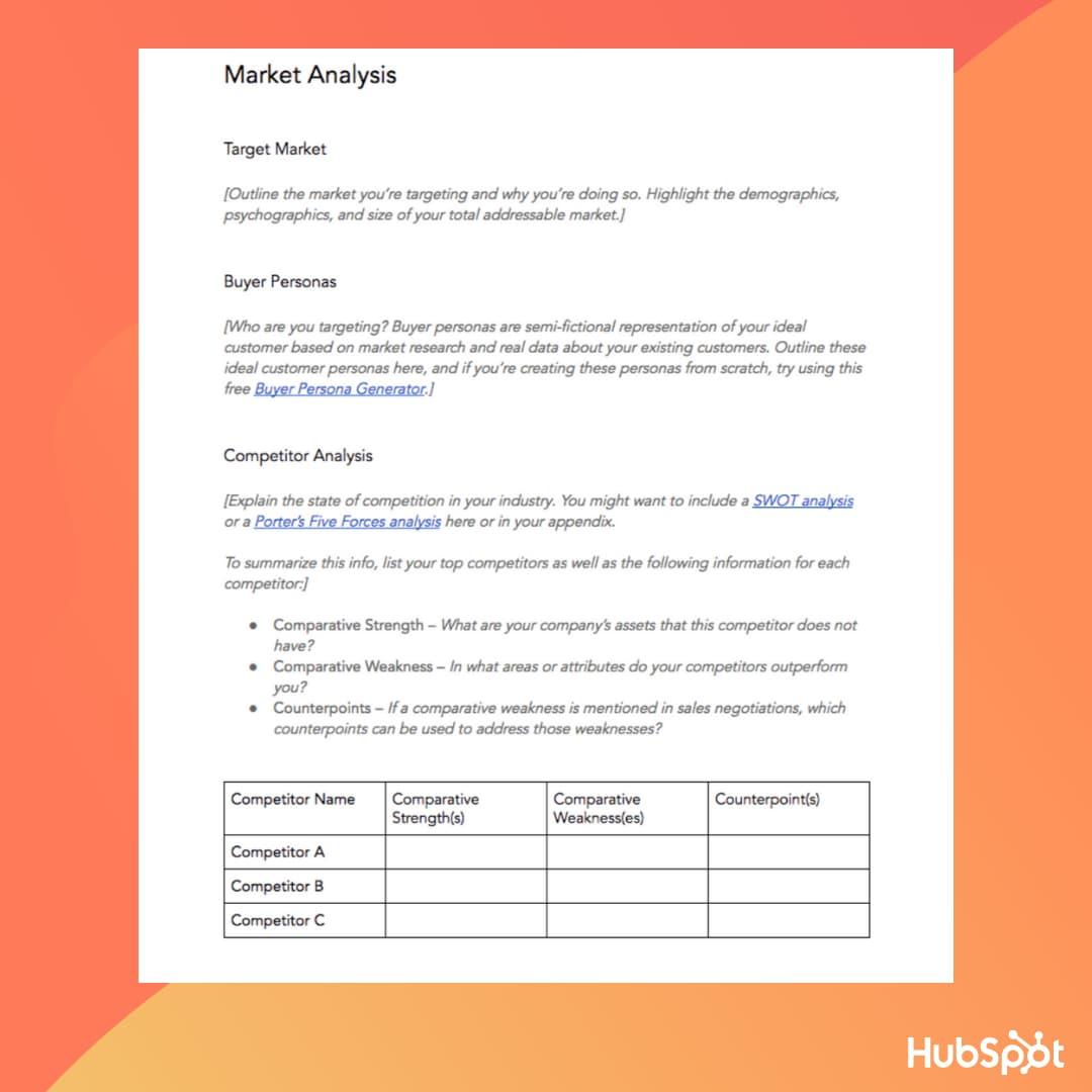 الگوی طرح کسب و کار: تحلیل بازار