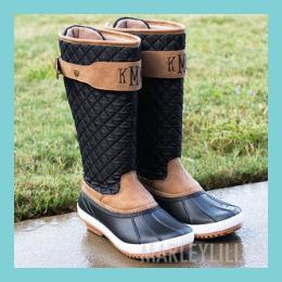 Monogrammed Rain Duck Boots