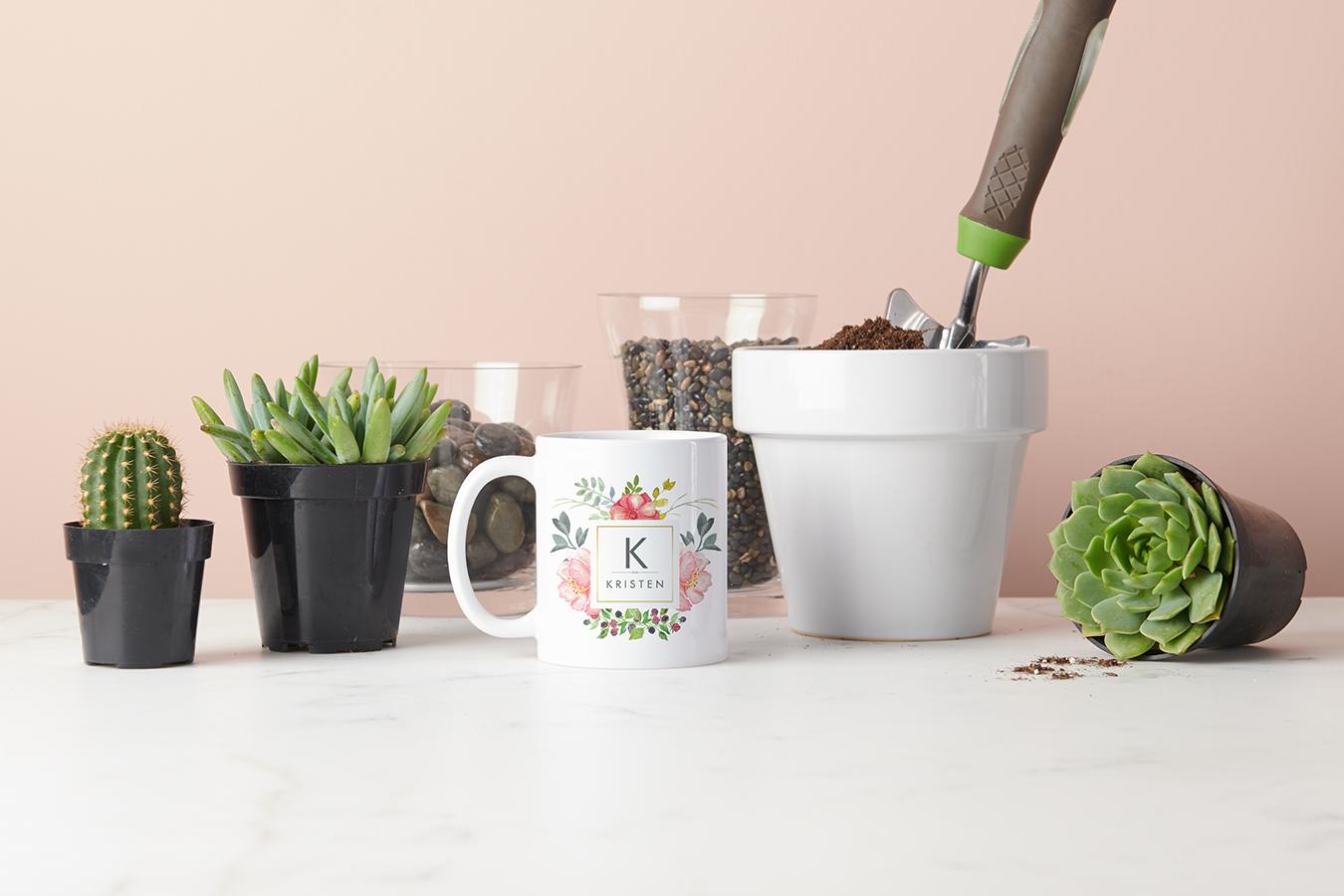 DIY Succulent Mug Planter   Zazzle Ideas
