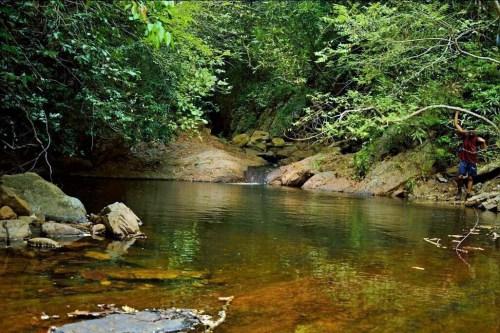 water stream on nagala east trekking