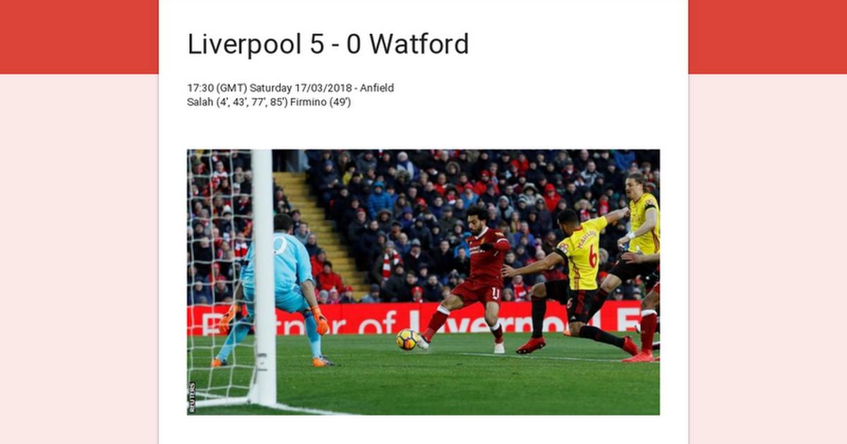 FAN RATINGS - Liverpool 5 - 0 Watford - VOTE NOW!