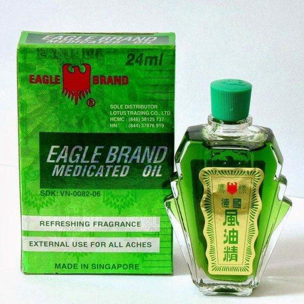Dầu gió xanh Mỹ hiệu Con Ó Eagle Brand Medicated Oil 24ml – Cholacxoong.vn