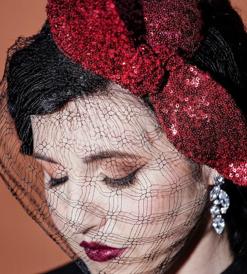 One of Belle Folie's creations at the Brisbane Millinery Fair