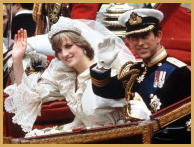 Princess Diana and Prince Charles after wedding