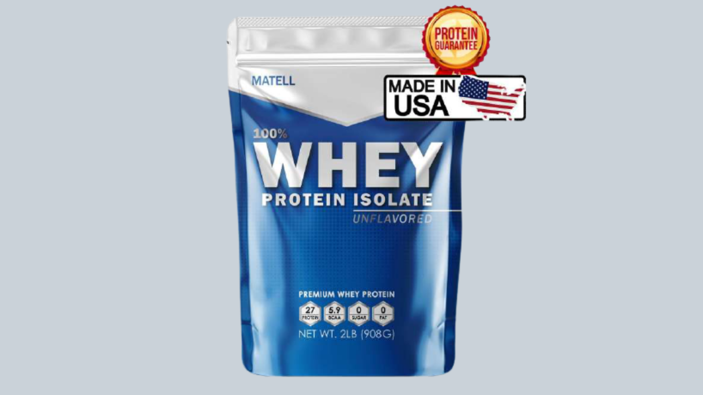 9. MATELL Whey Protein Isolate 2 Lb