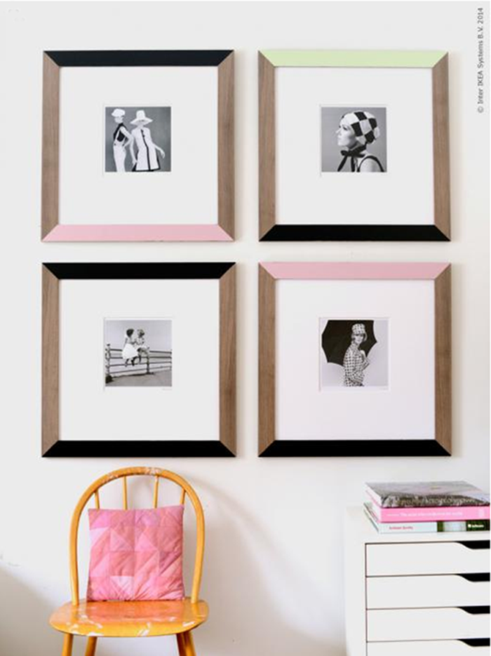 Painted Frames: These will help you save maney and transform your space.