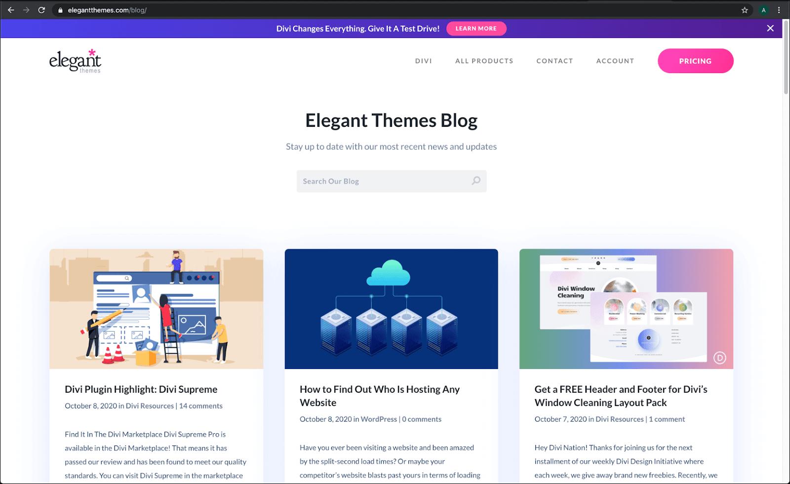 Corporate type of blog