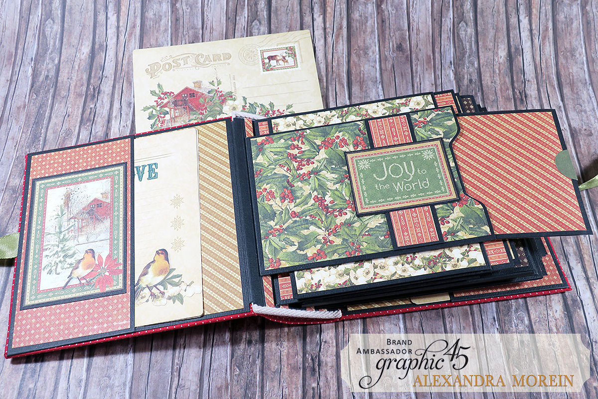 Winter Wonderland Mini Album, Project by Alexandra Morein, Product by Graphic 45, Photo 6.jpg