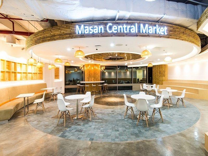 Khu vực ăn uống tại Masan