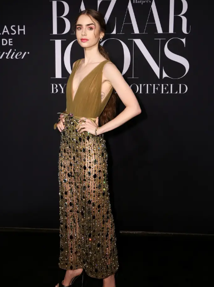 Lily Collin's fashion style