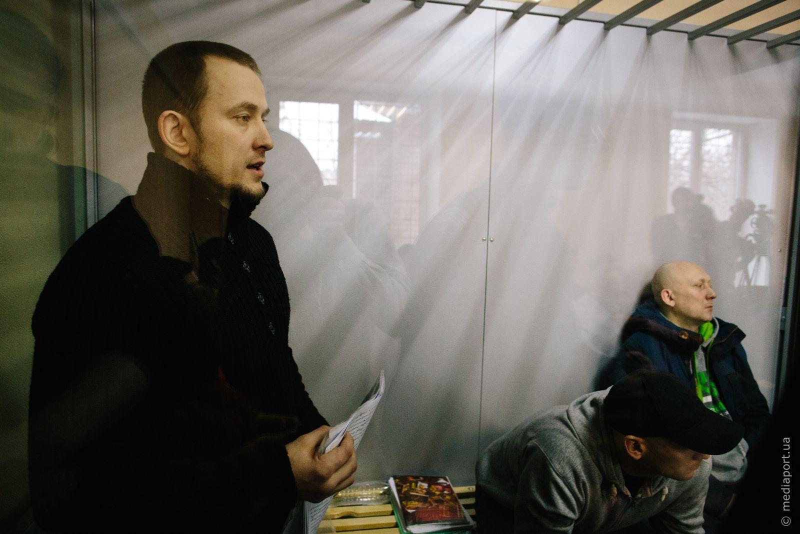 Обвинувачені Башликов, Тетюцький, Дворніков на засіданні 20 лютого