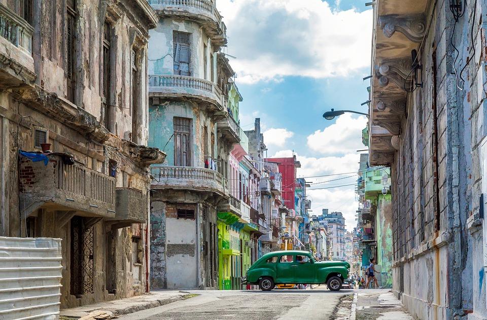 La Habana, Cuba, Ciudad, Urbana, Edificios, Coche