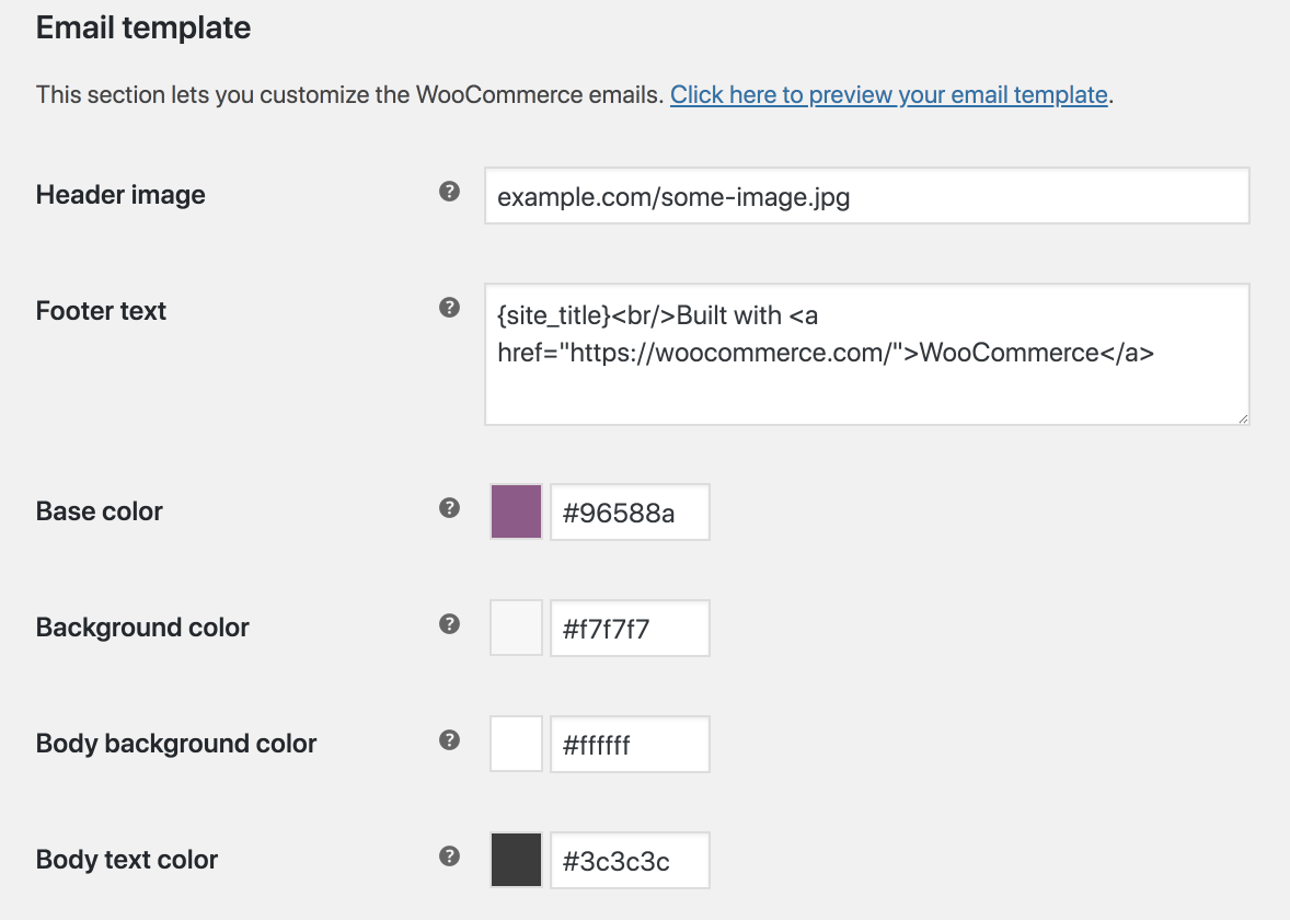 WooCommerce's email template editor