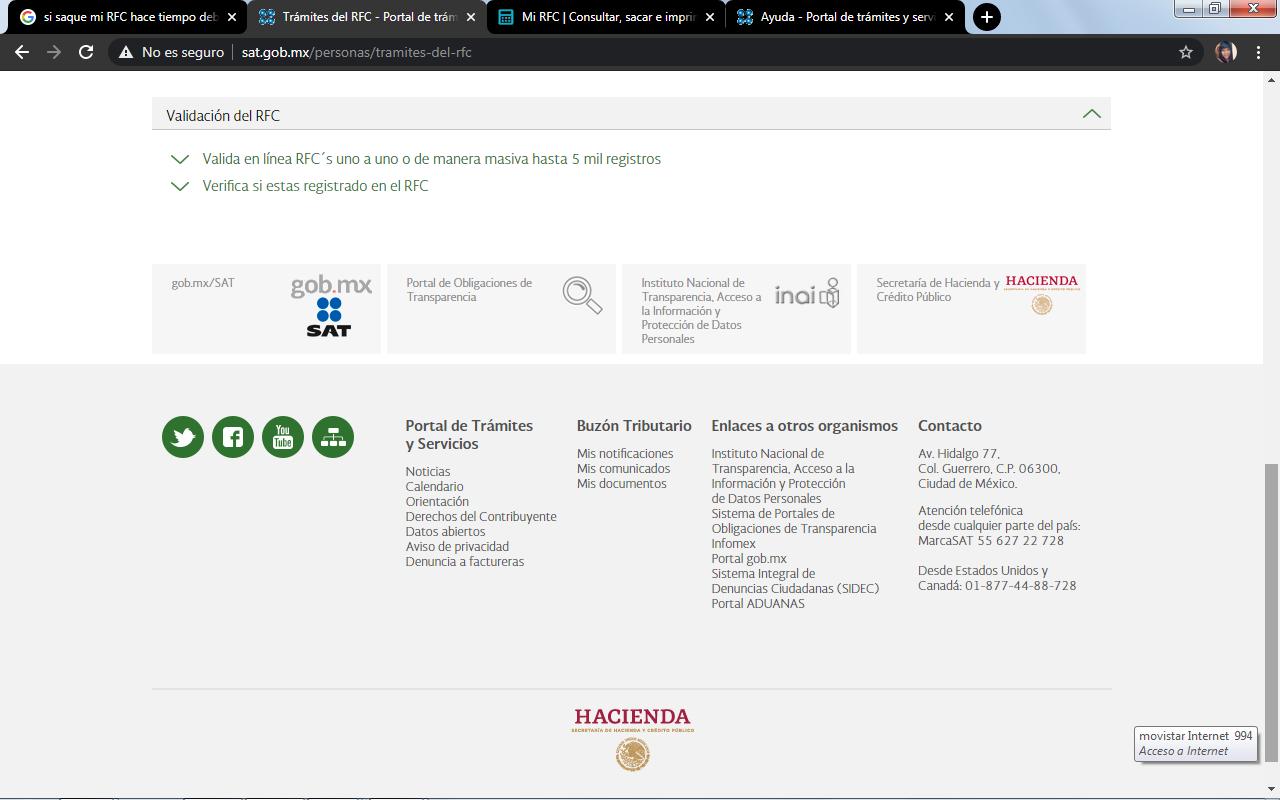 consultar rfc con homoclave en linea paso 2