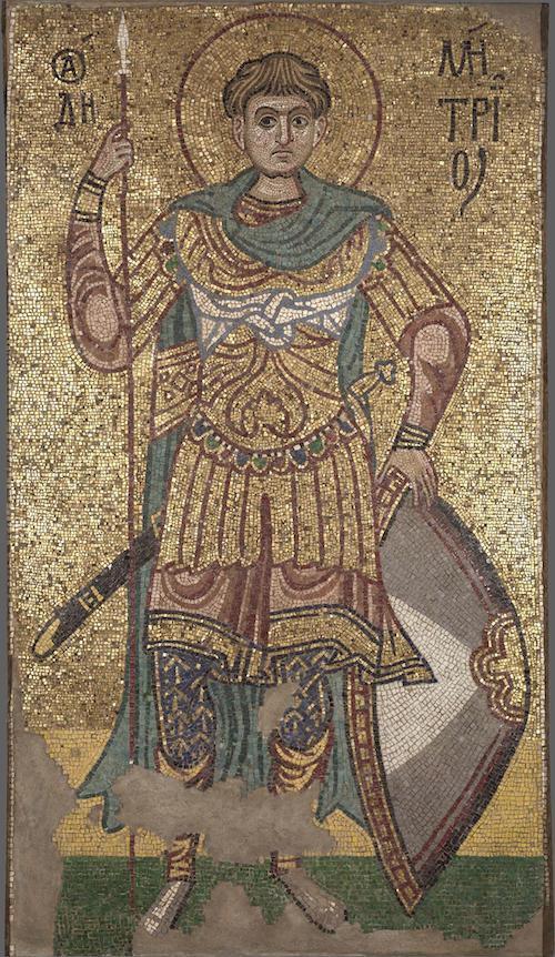 Дмитрій Солунський. Мозаїка з Михайлівського Золотоверхого
