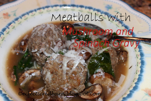 Meatball with Mushroom and Spinach Gravy.JPG