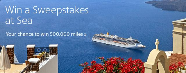 Win a Sweepstakes at Sea