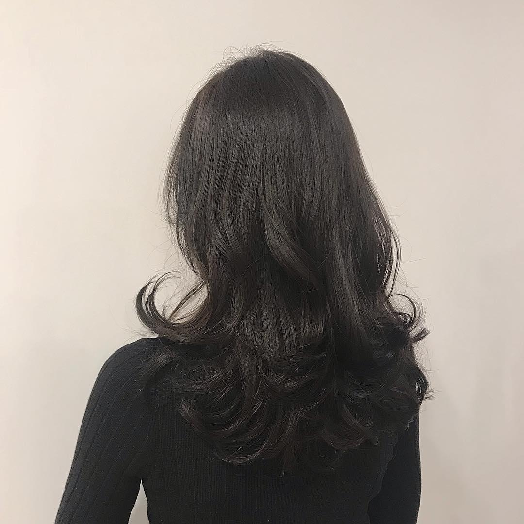 Mẫu tóc uốn nóng