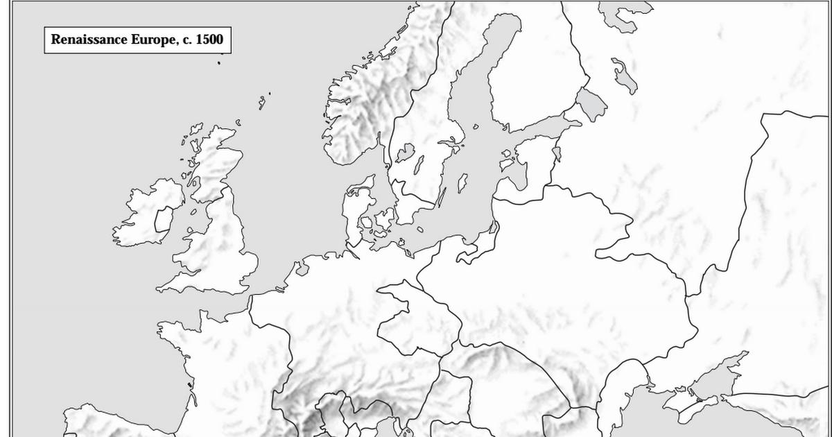 blank map of europe 1500 Copy of Blank Map Europe c. 1500.pdf   Google Drive