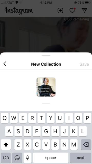 Guardar en una nueva colección en Instagram