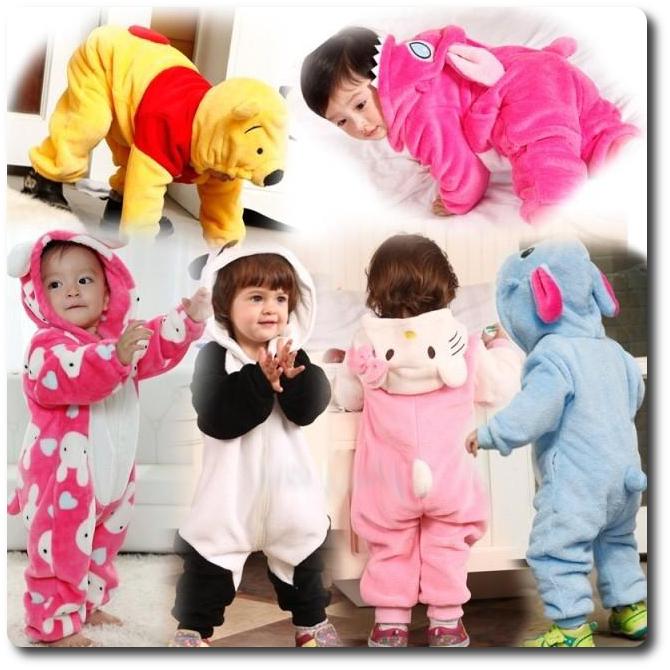 Piżama kombinezon dla dzieci zwierzaki
