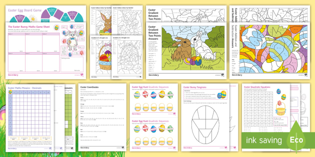 Maths Easter: Differentiated Activity Pack
