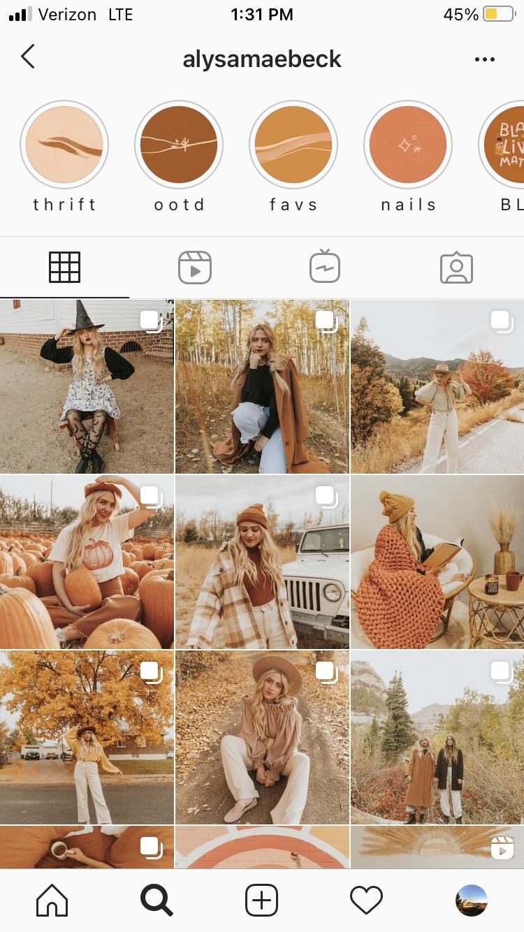 instagram content calendar @alysamaebeck
