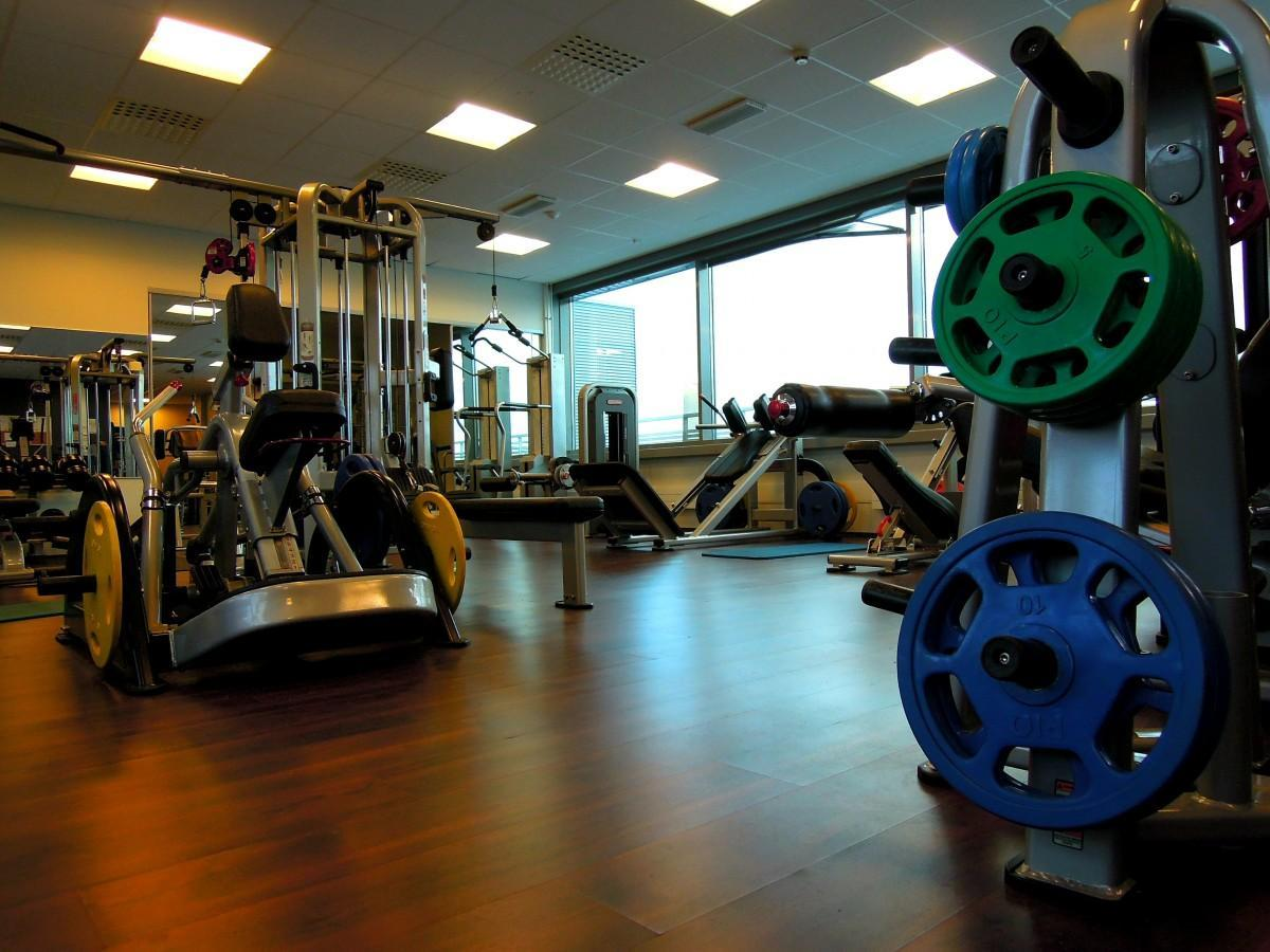 structure wheel equipment room gym weights in the gym exercise in sport venue physical fitness gym equipment