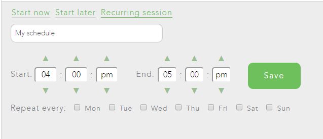 If you create a recurring block schedule, decide how long you want to block distractions for and on which days