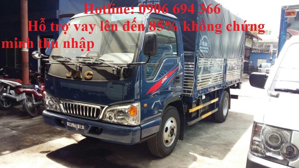 Bán xe tải Jac 2 tấn 5/ 2T5/ 2.5 tấn/ 2400kg thùng 3m7 trả góp lãi thấp