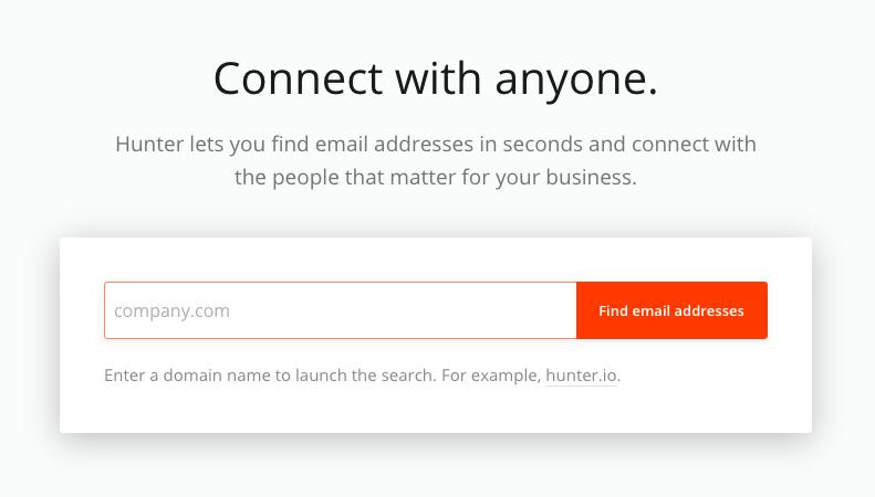 Digital marketing tools - Hunter