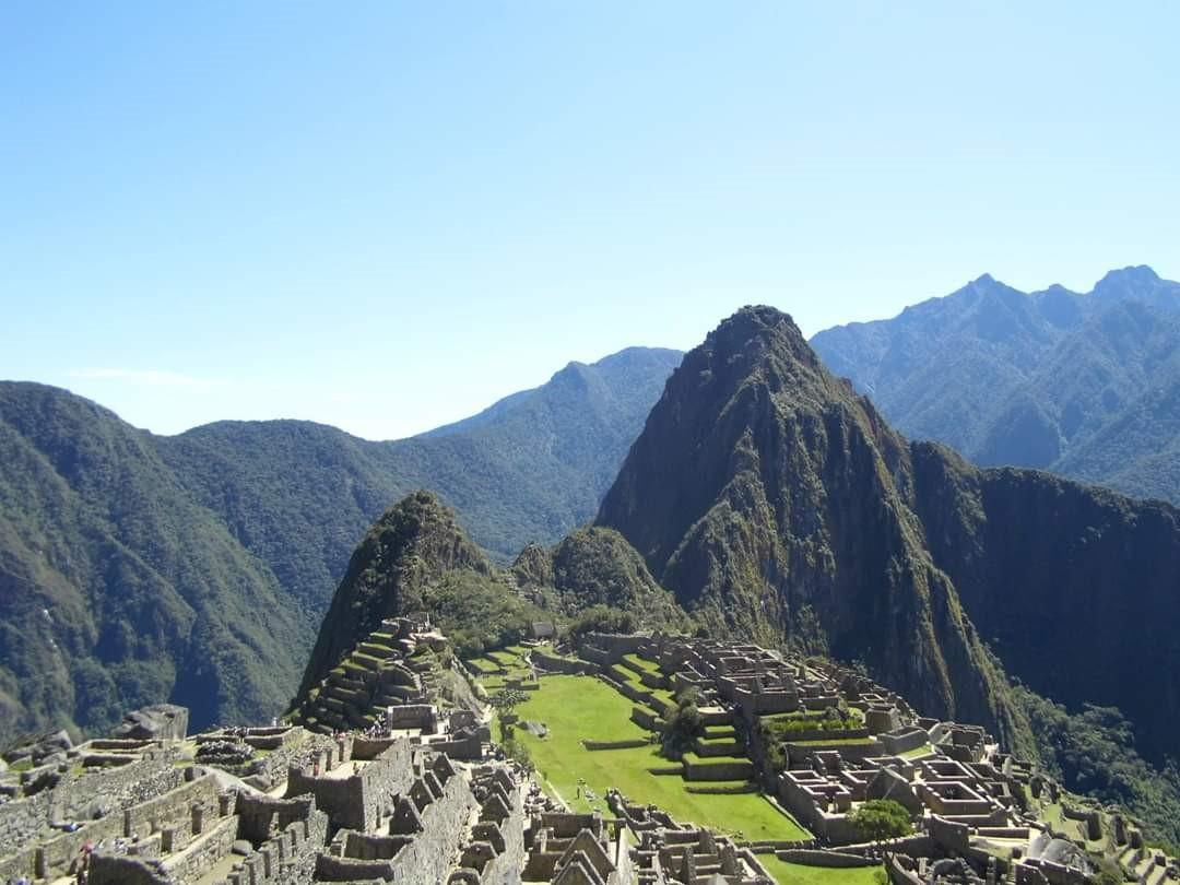 Machu Picchu, the famous Inca site - backpacking South America