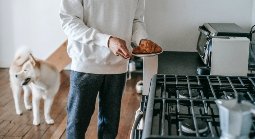 cooking with a toaster oven when possible (instead of your full-sized oven) saves energy