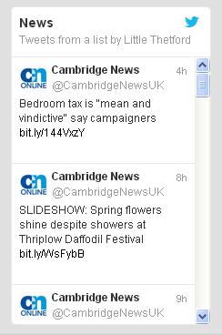 Twitter widget example