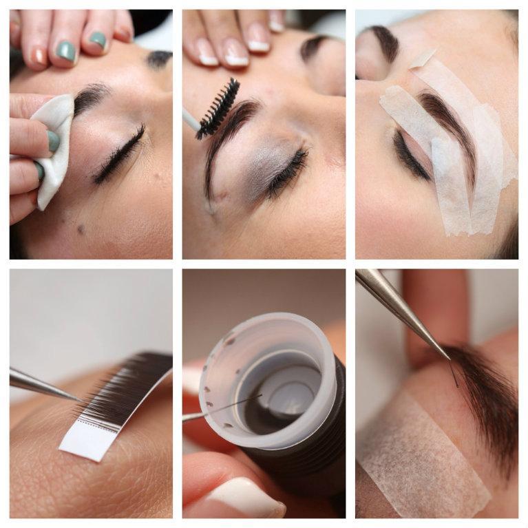 Волосковое наращивание бровей — способ коррекции бровей, при котором в область бровей по одному приклеиваются волоски