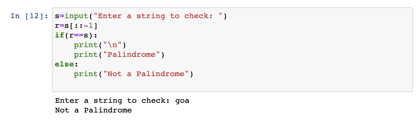 Palindrome in Python
