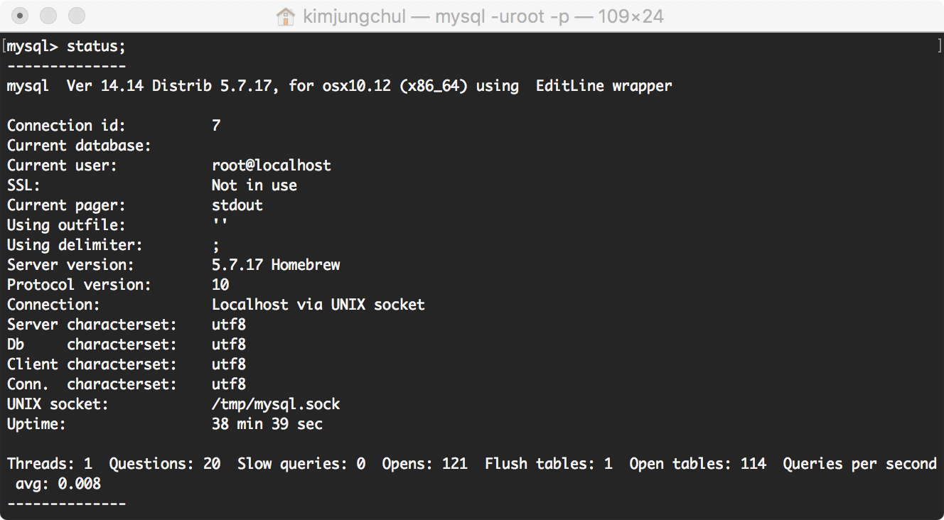 Mac OS X Python 3 MySQL 연동
