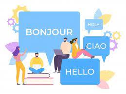 People communicating on multiple language