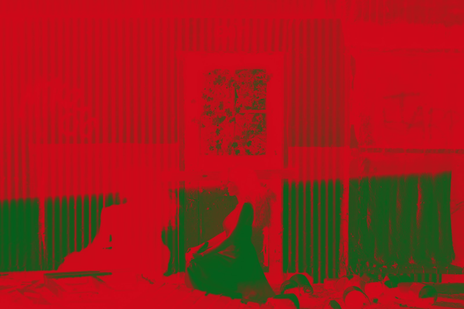 Original photo with red to green gradient map applied. The red replaced shadows and the green replaced highlights.