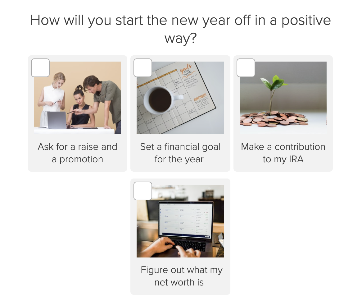start off the year in a positive way quiz question