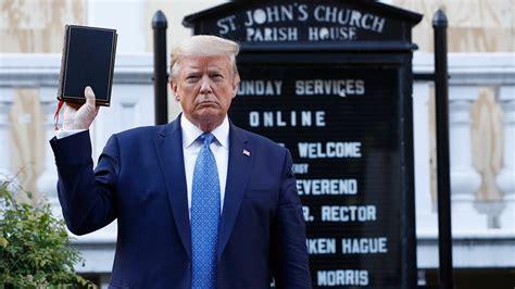 Image result for president trump st john church