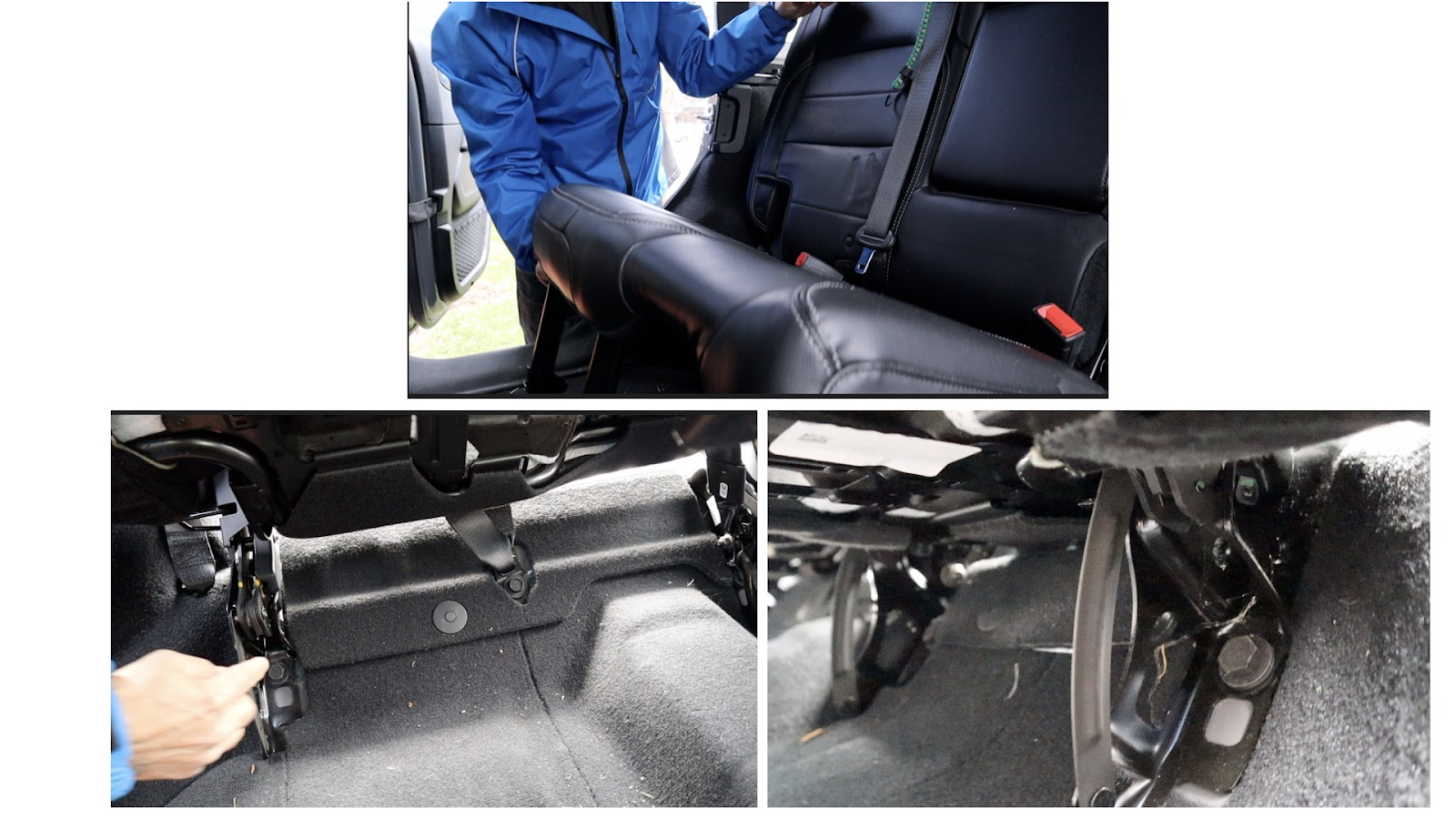 Removal of Under seat bolts at the Back