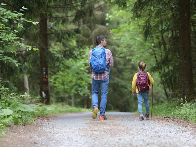 A parents and child reconnection while checking out the area because they are planning on moving to Lake of the Woods in 2022