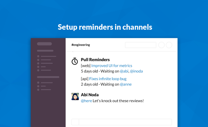 Pull reminders slack integration