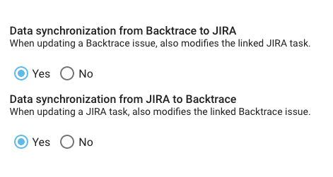2 way Jira Sync configuration options