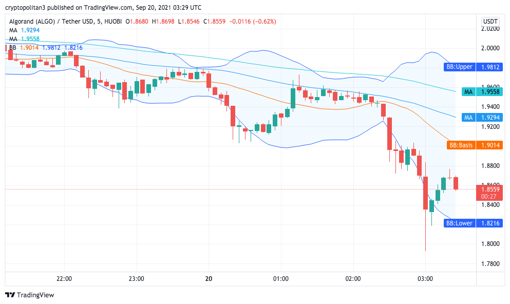 Algorand Price Analysis: ALGO retraces to $1.79, bearish momentum persists 1