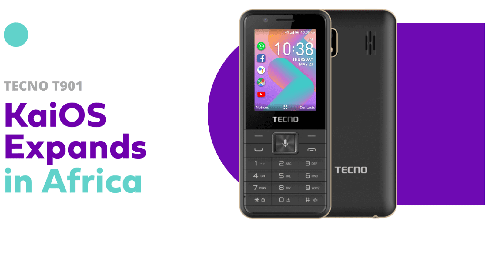 {filename}-Tecno Introduces 1st Smart Feature Phone To Run On Kaios